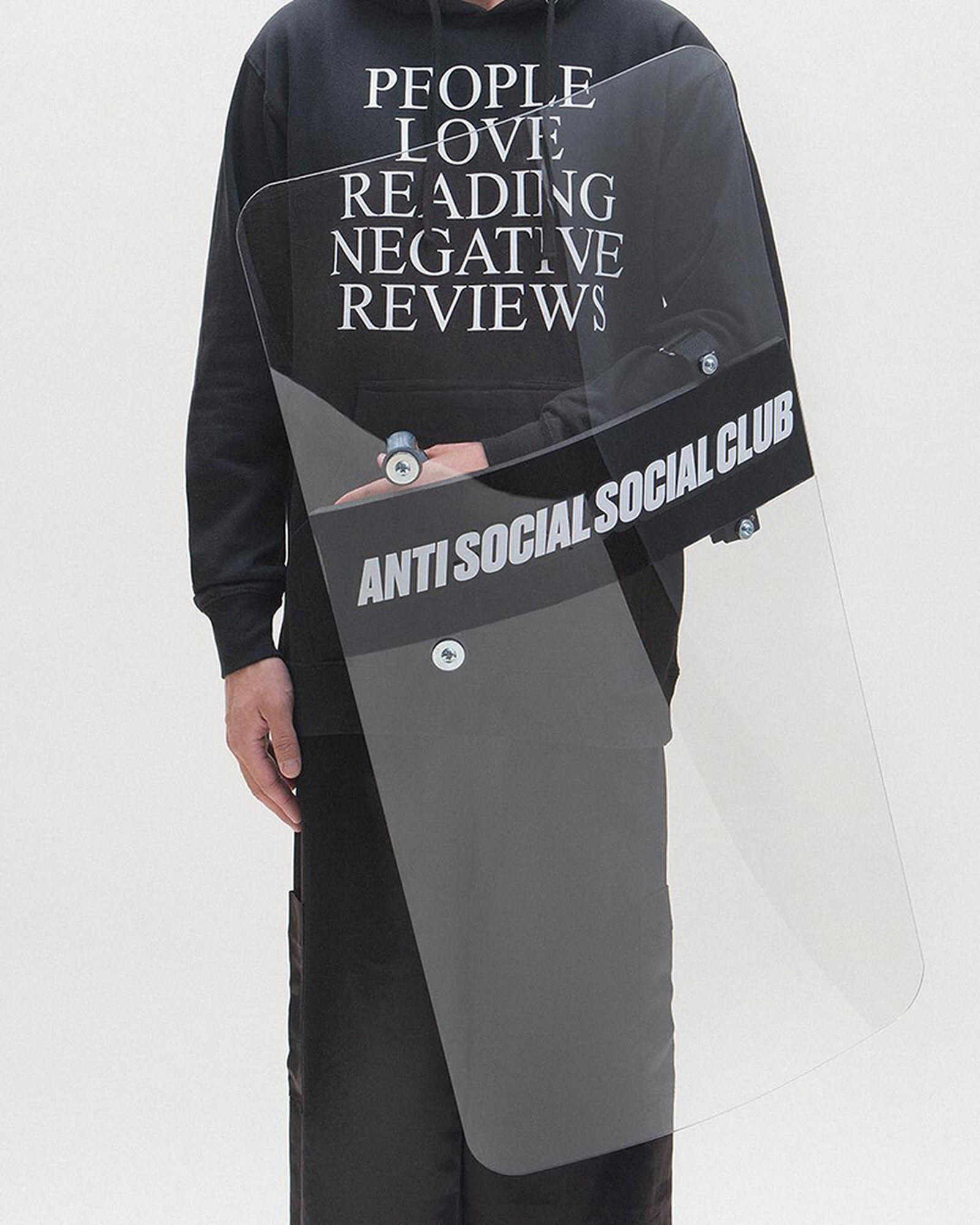 assc riot shield Anti Social Social Club