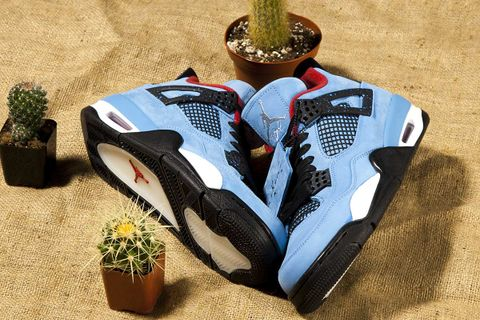 "check out b6e13 08486 Travis Scott ""Cactus Jack"" Air Jordan 4 Spotted at Nike Outlet"