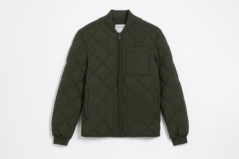The Skyline Water Repellent Packable Bomber Puffer