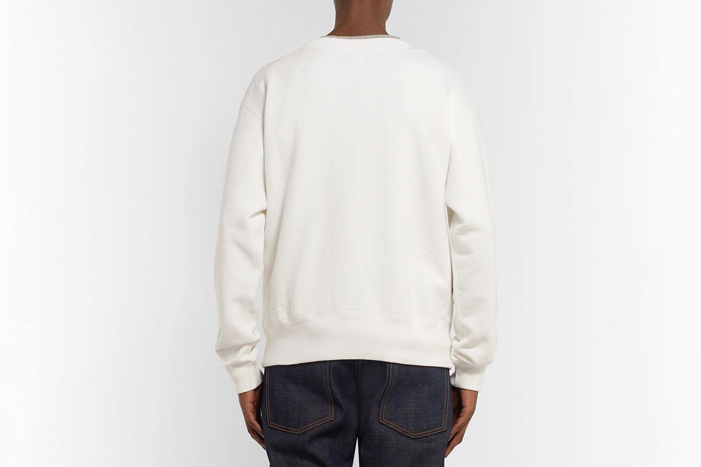 Printed Loopback Cotton-Jersey Sweatshirt