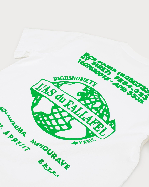 Highsnobiety x L'AS du FALLAFEL - Logo T-Shirt White - Image 6