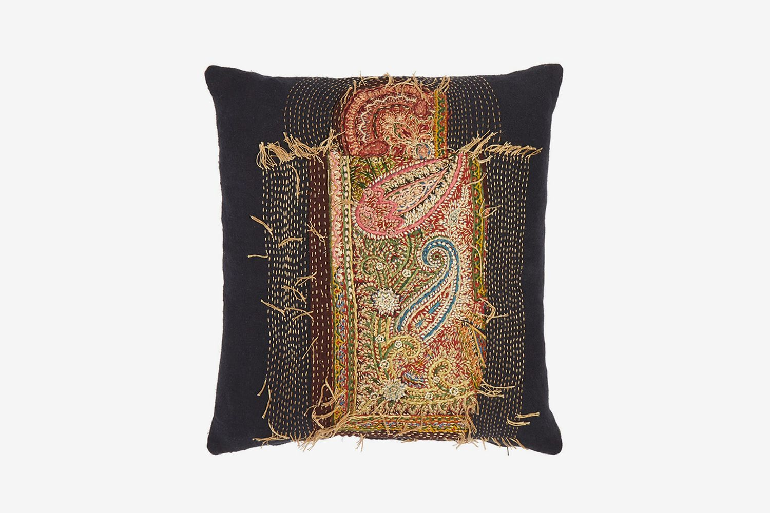 19th-Century Paisley Tapestry Cushion