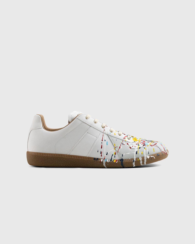 Maison Margiela – Replica Paint Drop Sneakers White - Image 1