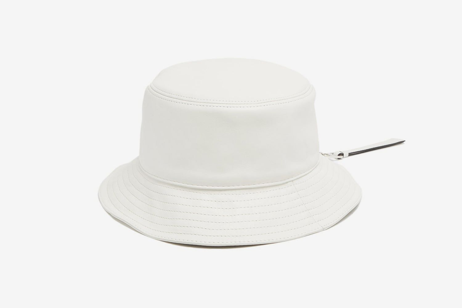 Fisherman Leather Bucket Hat