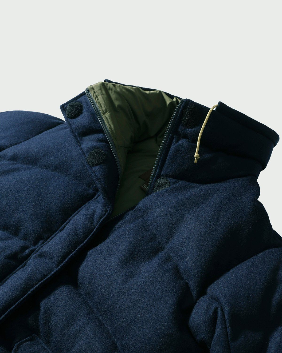 The North Face Brown Label — Larkspur Wool Down Jacket Navy Women - Image 3