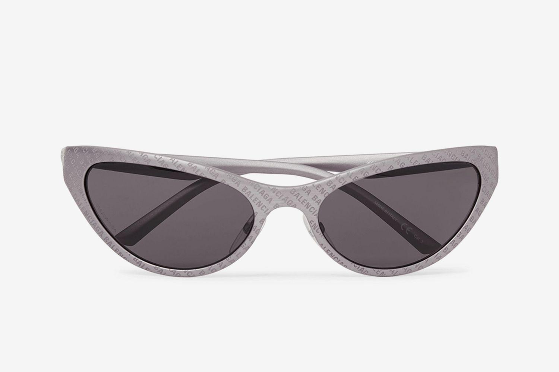 Oval-Frame Logo-Detailed Acetate Sunglasses