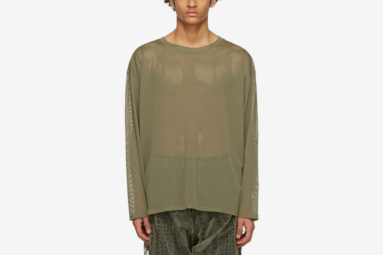 Khaki Mesh Sweater