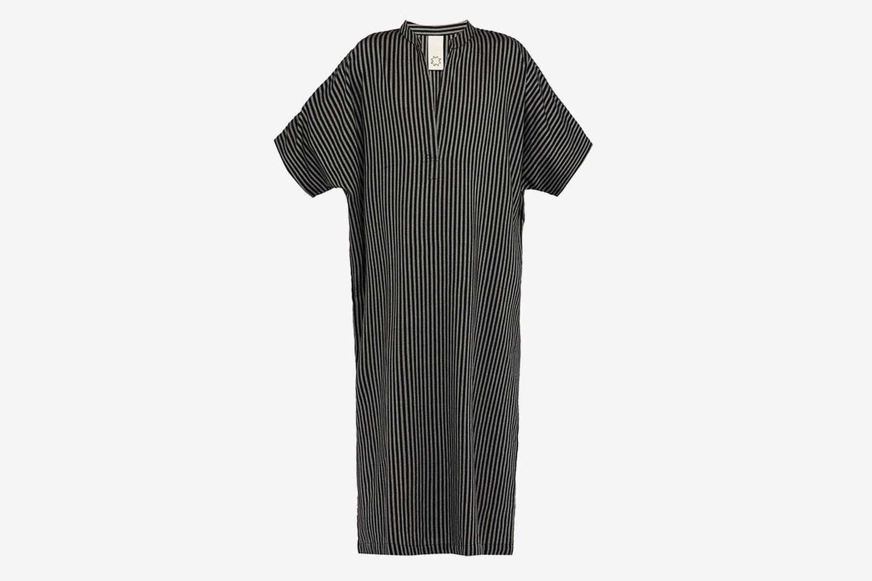 Oxford-Stripe Cotton-Blend Kaftan