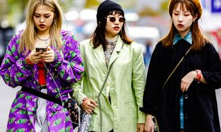 Shanghai Fashion Week Ends With Some Flamboyant Fall Street Style
