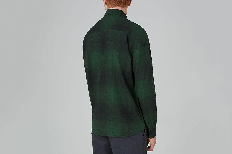 Drop Shoulder Check Shirt