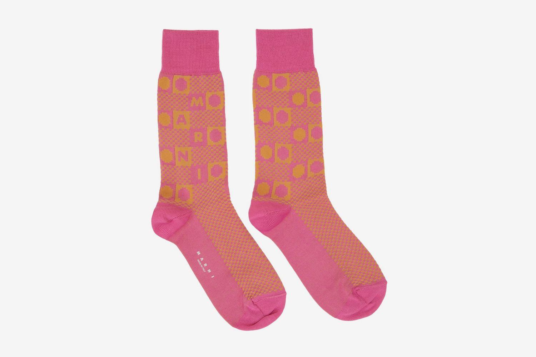 Damier Jacquard Socks