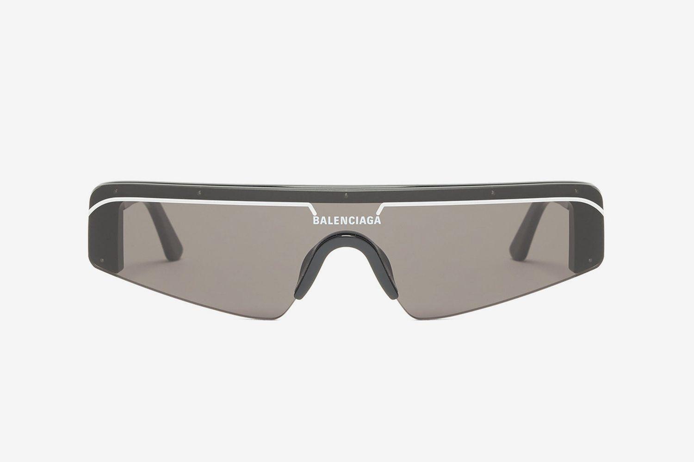 Ski Flat-Top Rectangle Acetate Sunglasses