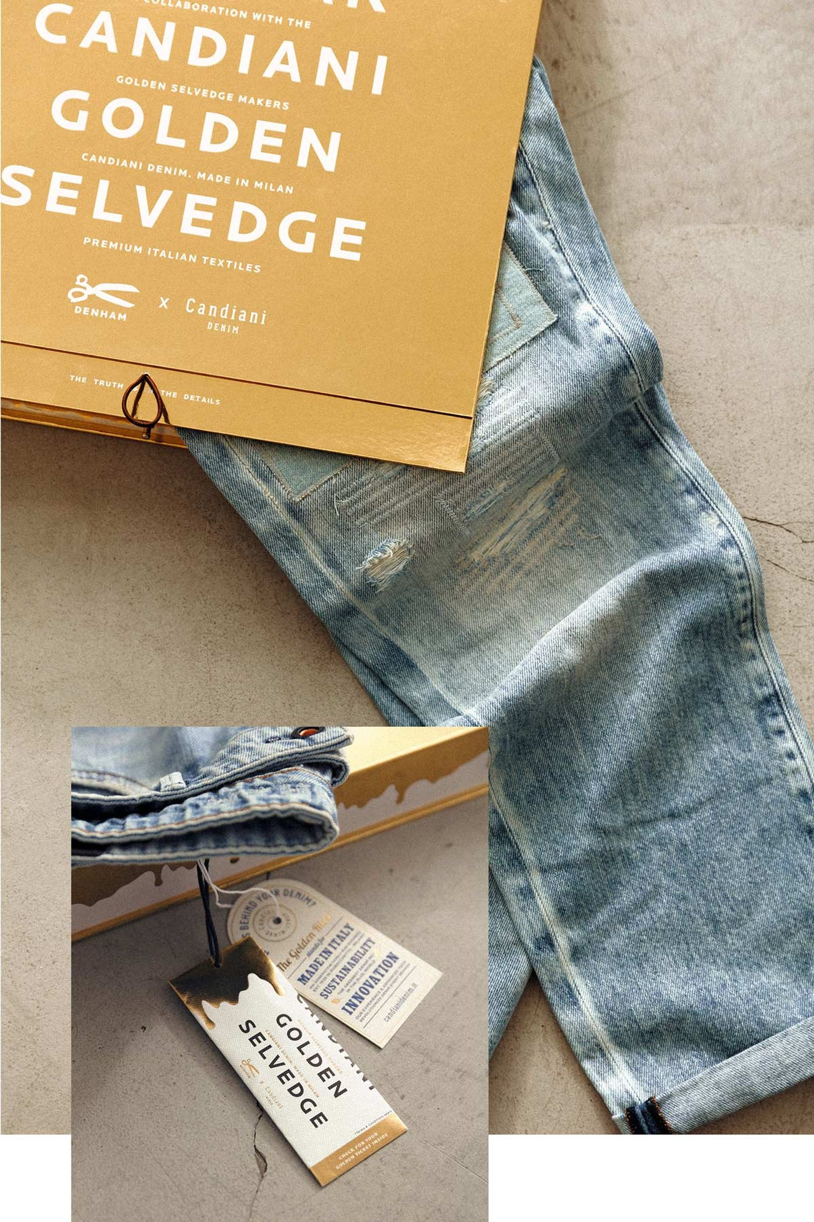 DENHAM x 10 Year Candiani Golden Selvedge & Candiani Golden Ticket