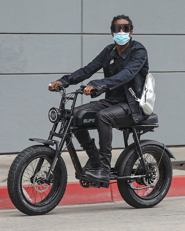 A$AP Rocky's Bike Fit Is a Huge Monday Mood