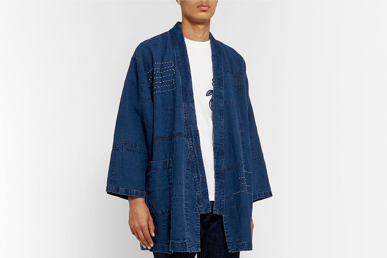 Patchwork Embroidered Linen Jacket