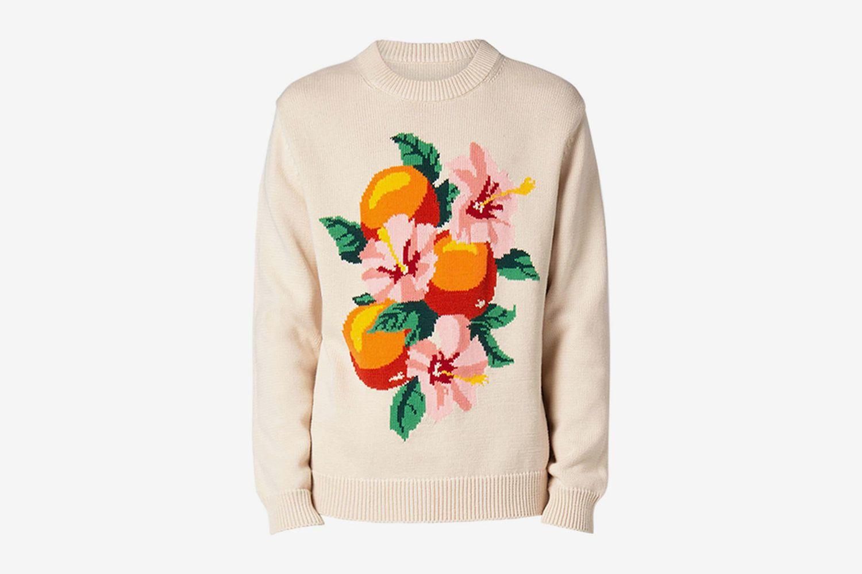 Oranges Intarsia Knit Sweater