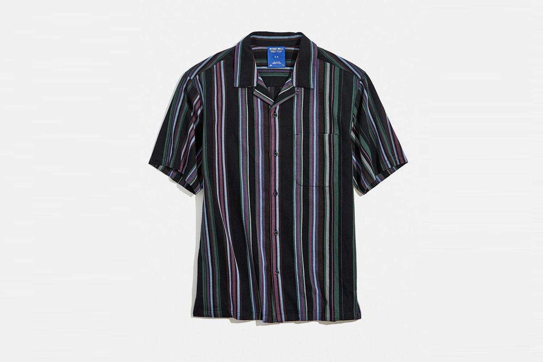Patterned Stripe Short Sleeve Shirt