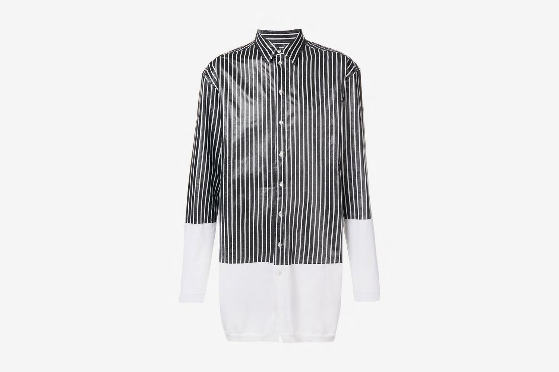 Oversized Stripe Panel Shirt