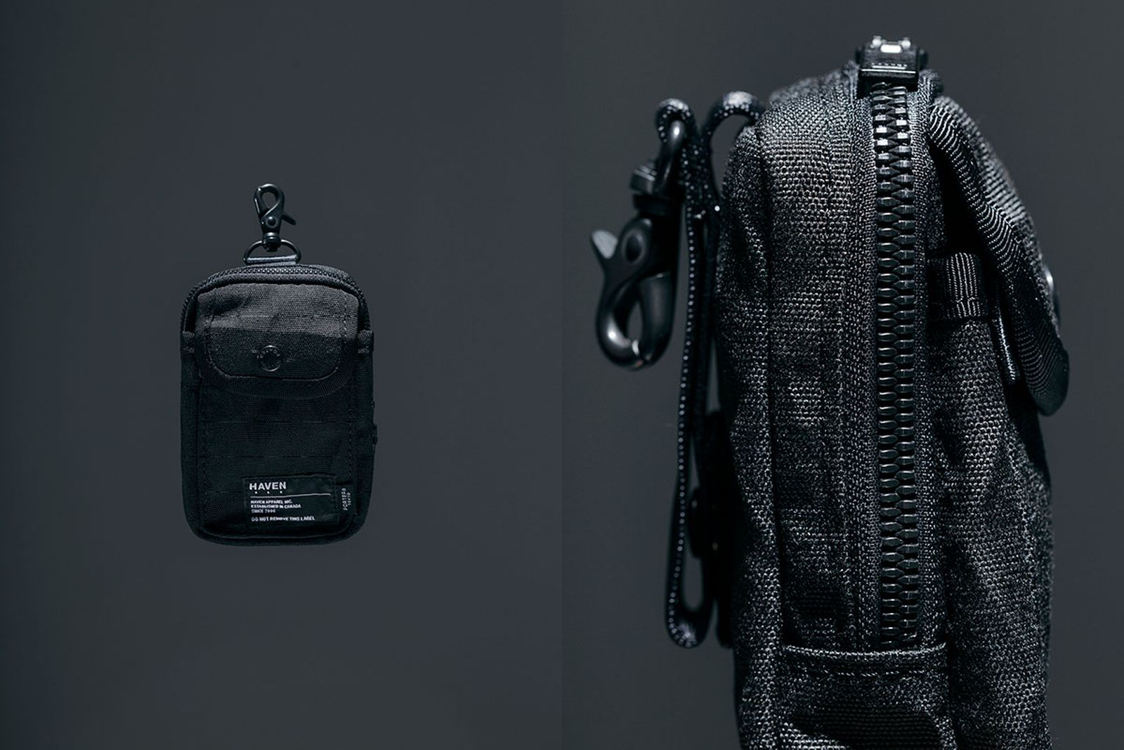 haven x porter bags on grey background