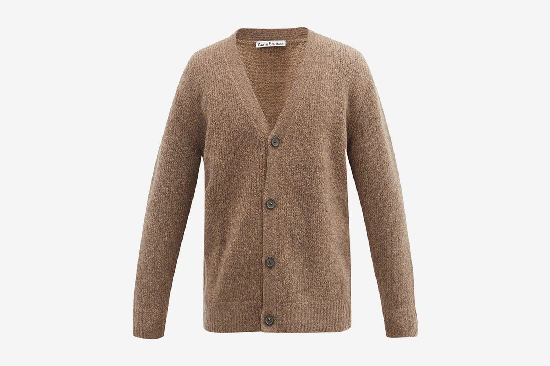 Cardigan en laine mélangée à col en V Kabelo