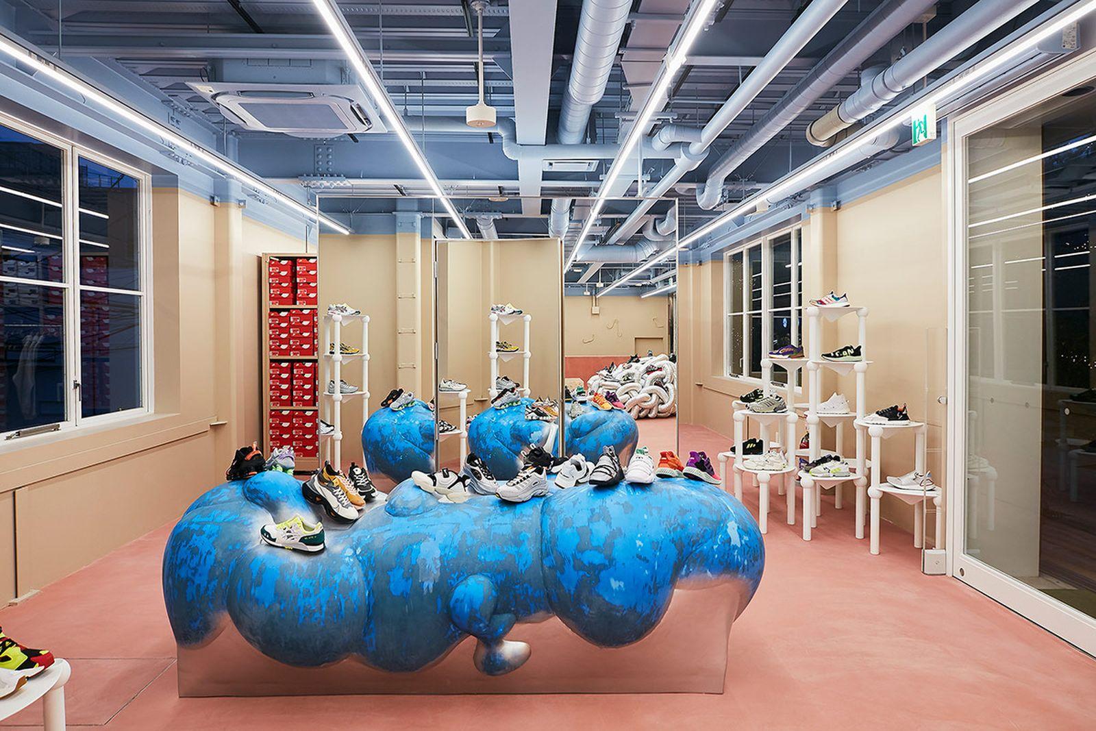 Sneakernstuff sneaker store tokyo modern building
