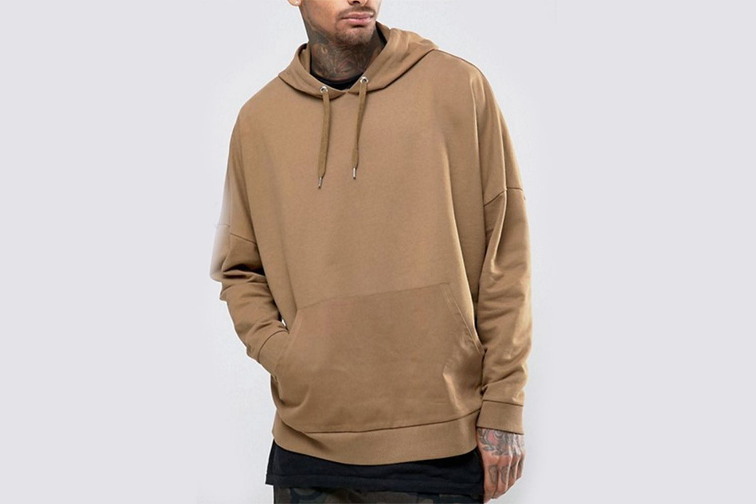 Extreme Oversized Hoodie With Woven Pocket