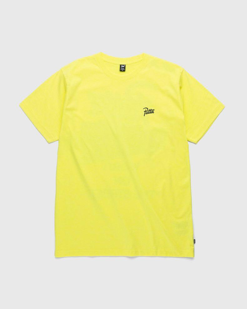 PATTA – Word On The Stree T-Shirt Fluoro Yellow