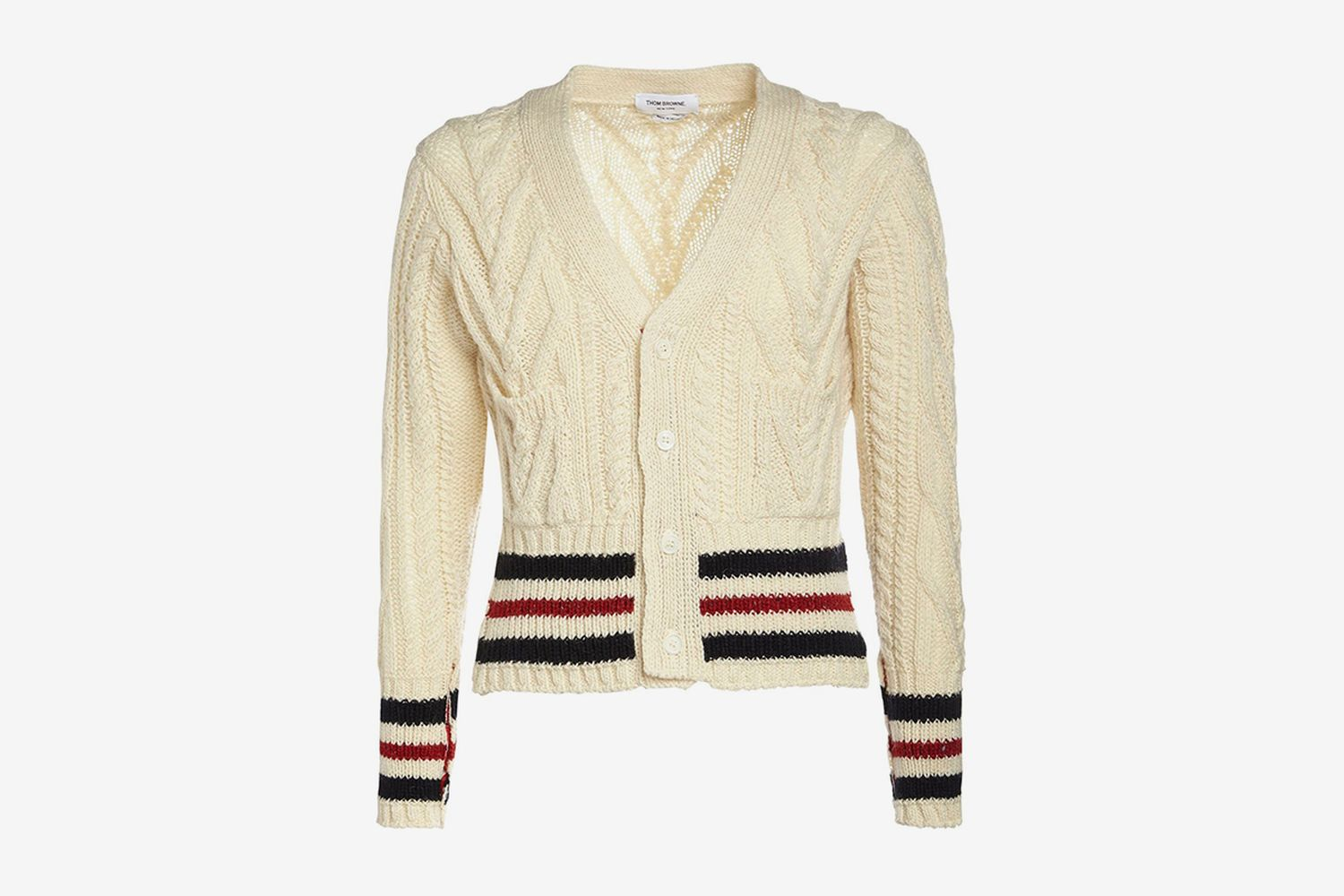 Wool Aran Cable Knit Cardigan