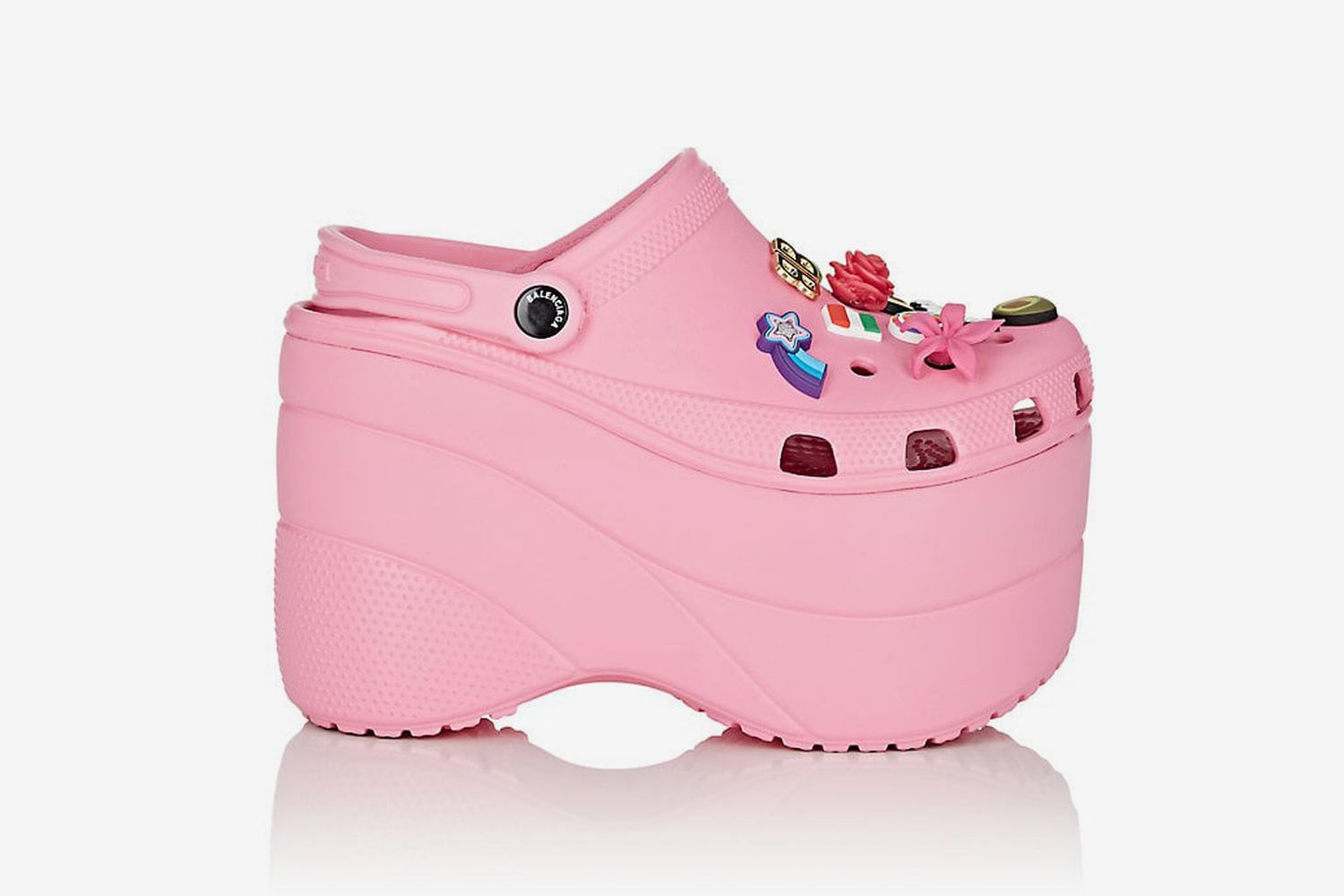 Embellished Platform Clogs