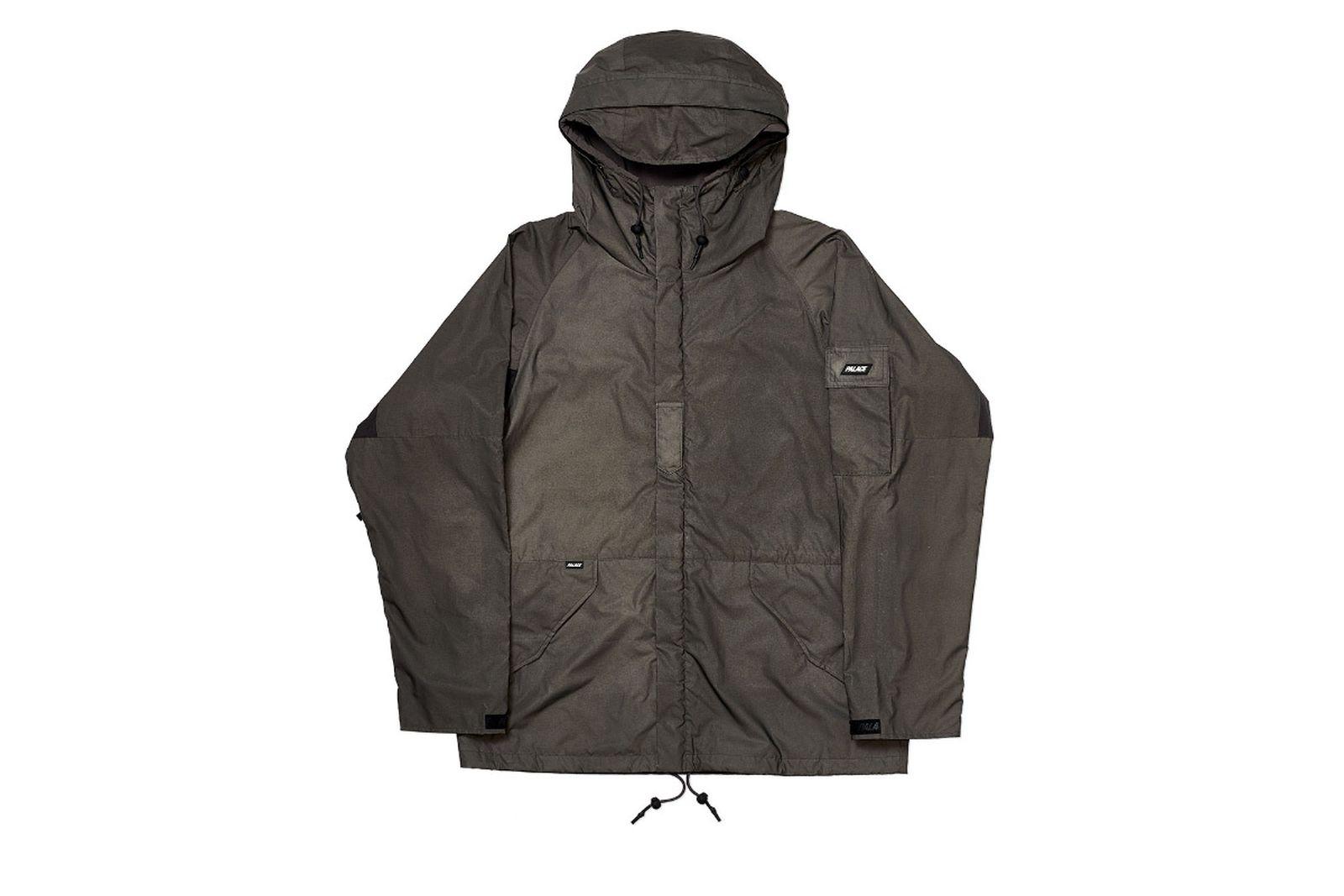 Palace 2019 Autumn Jacket Deflector grey front fw19