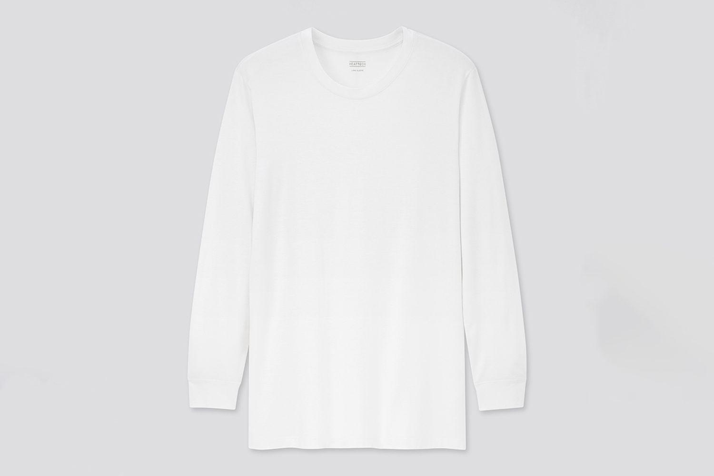 Heattech Crew Neck Long-Sleeve T-Shirt
