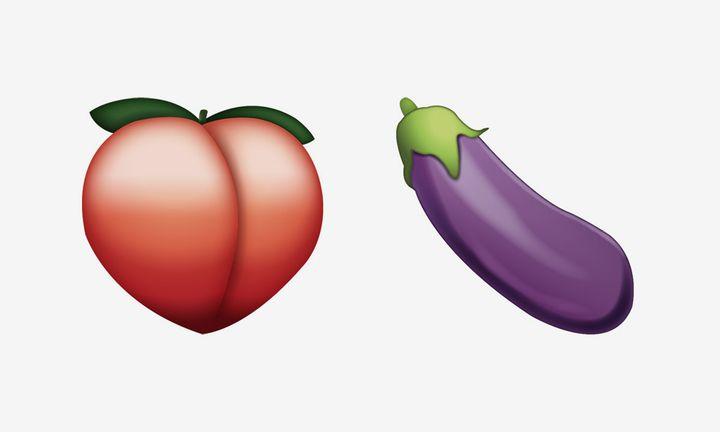 peach emoji eggplant emoji