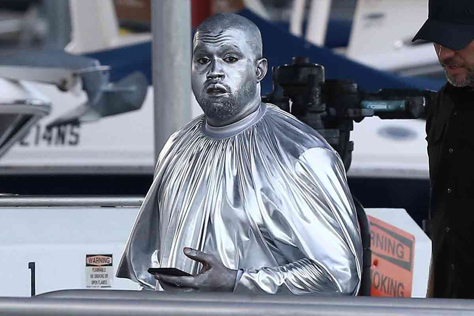 Silver Kanye West performs 'Mary' Opera Art Basel Miami