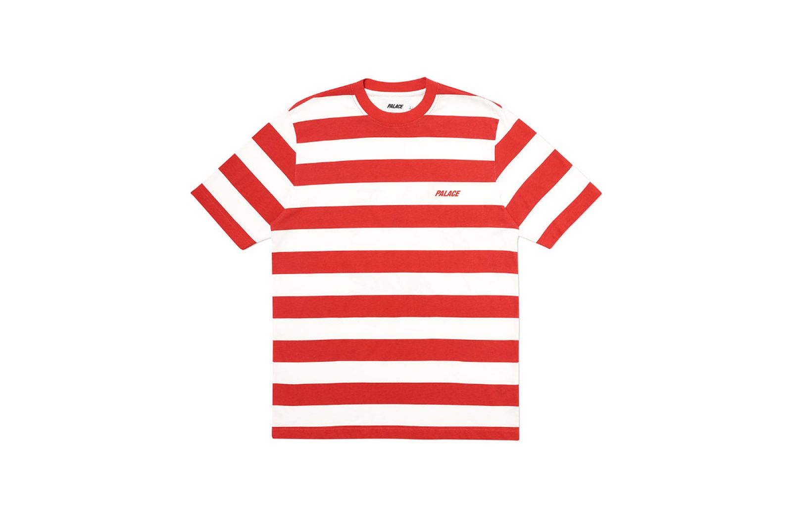 Palace 2019 Autumn T Shirt Heavy Stripe red front