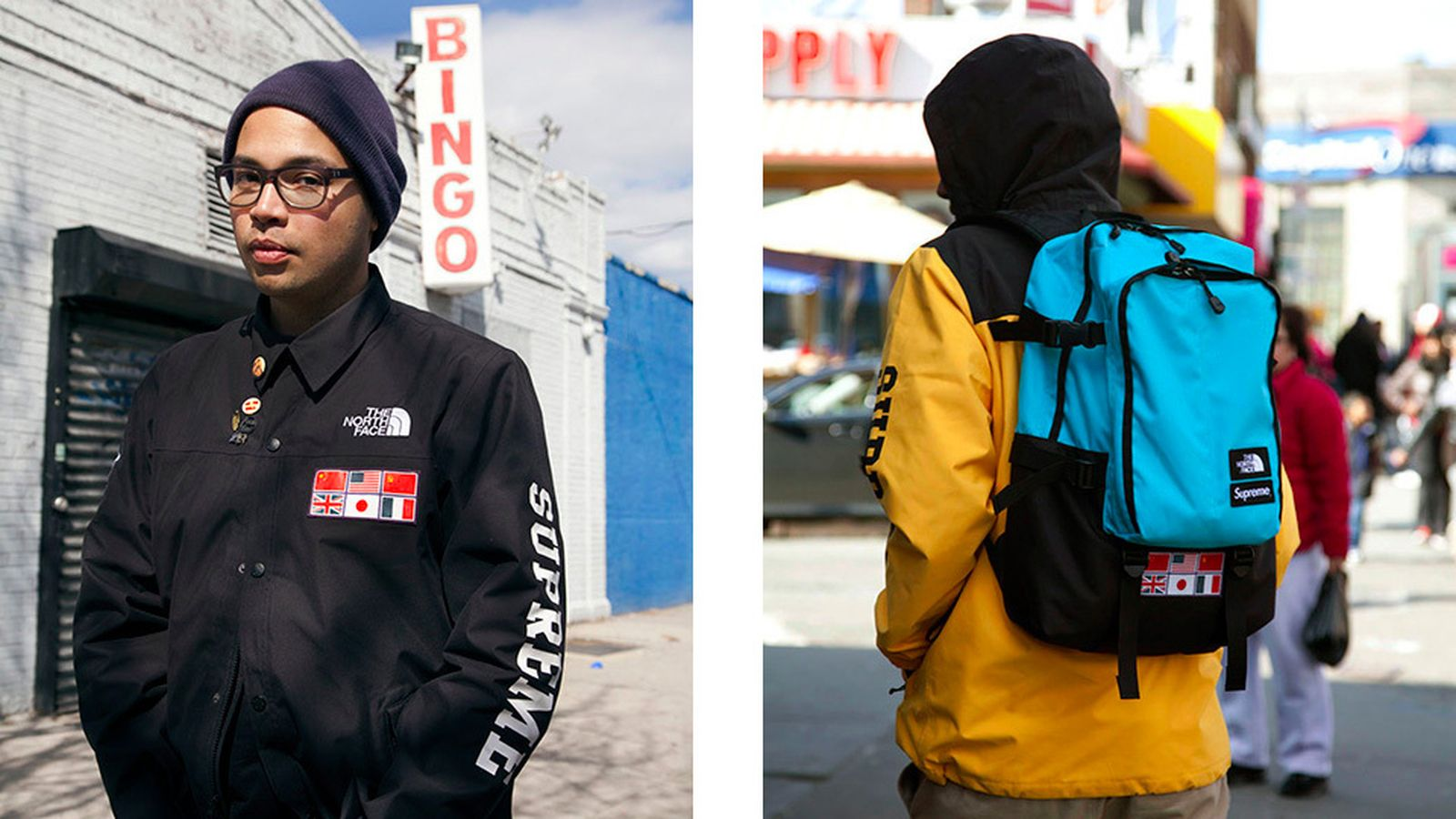 supreme x the north face history ss14