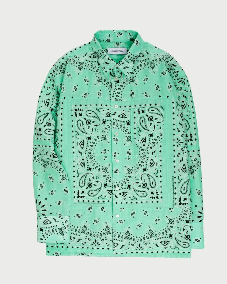 Miyagihidetaka — Bandana Shirt Mint