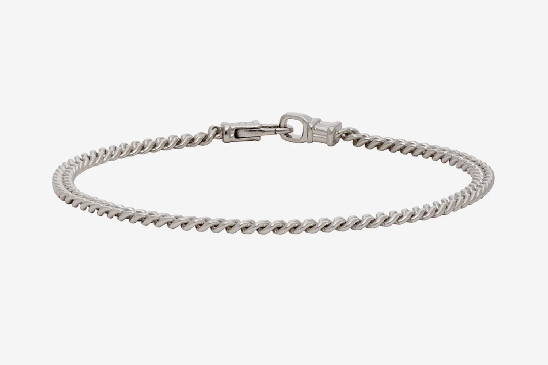 Silver Curb M Bracelet
