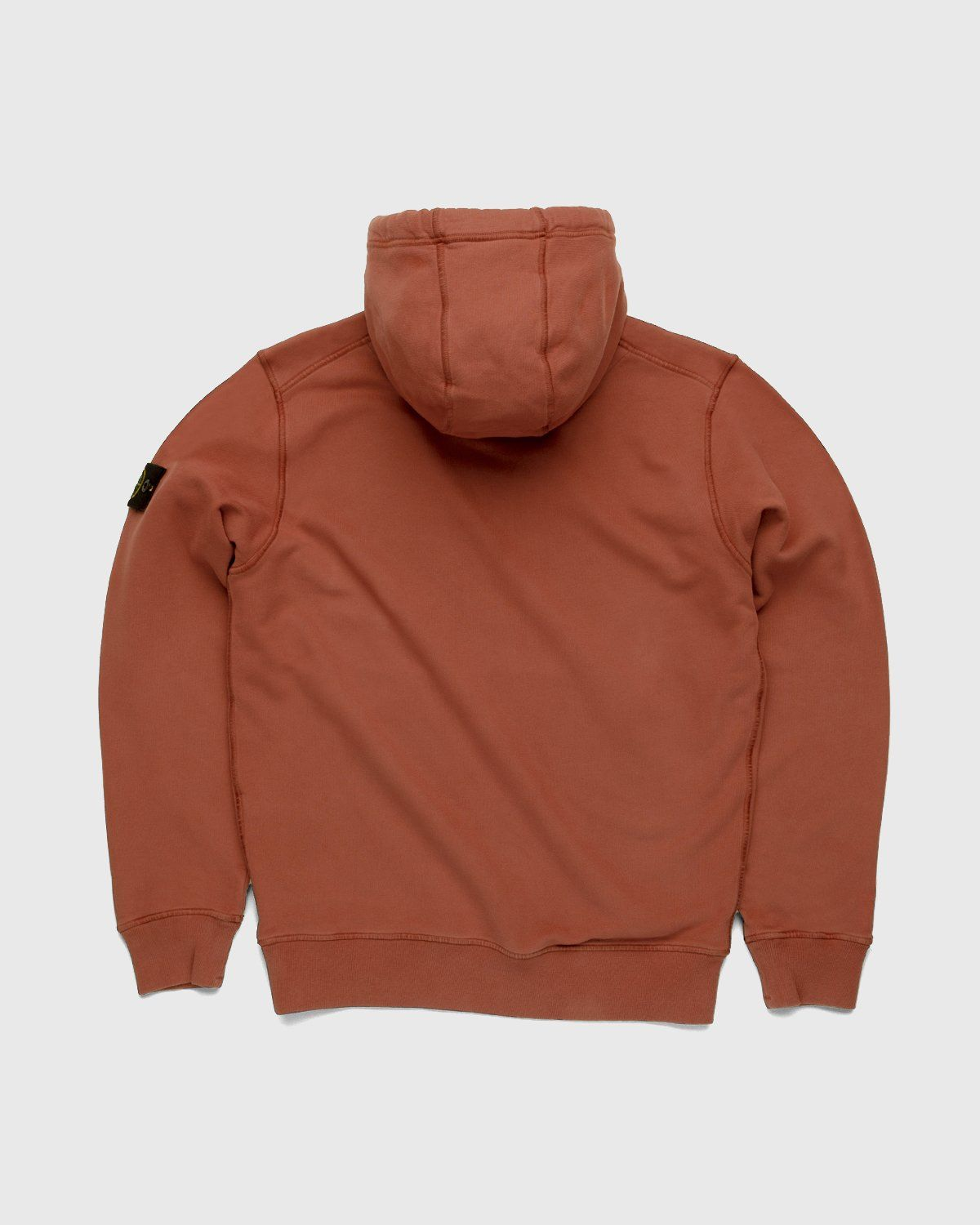 Stone Island – Dust Color Treatment Hoodie Brick Red - Image 2