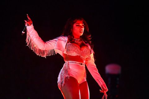 Megan Thee Stallion performs onstage during day 2 of the Rolling Loud Festival