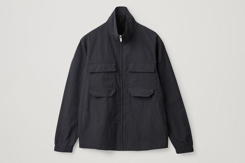 Recycled Technical-Ogranic Cotton Zip-Up Jacket