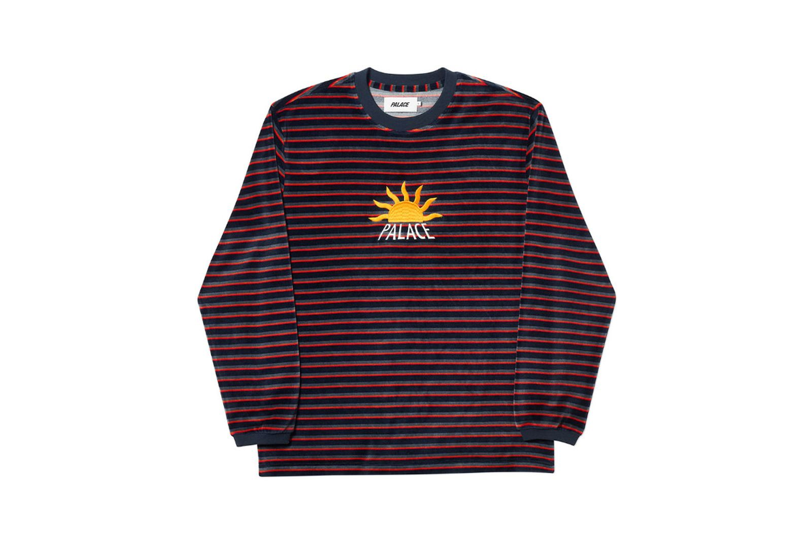 Palace 2019 Autumn Crew Optimo navy red grey front fw19