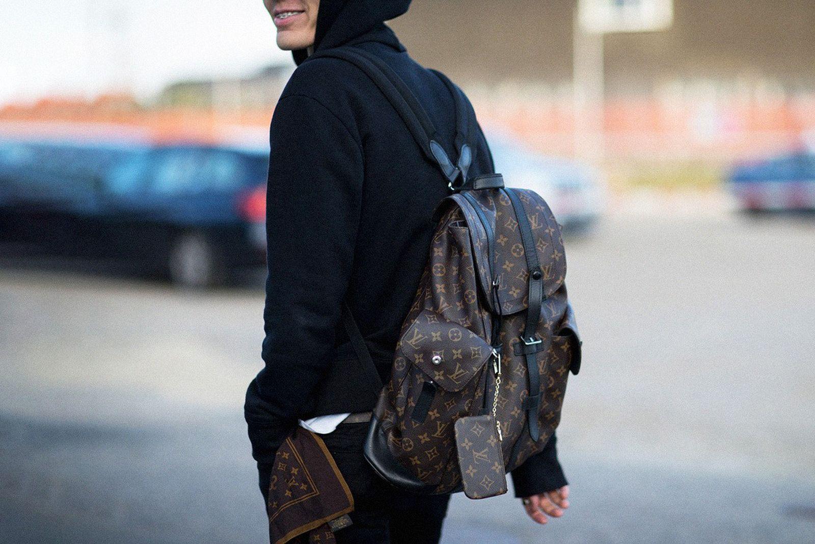 Louis Vuitton backpack monogram print brown
