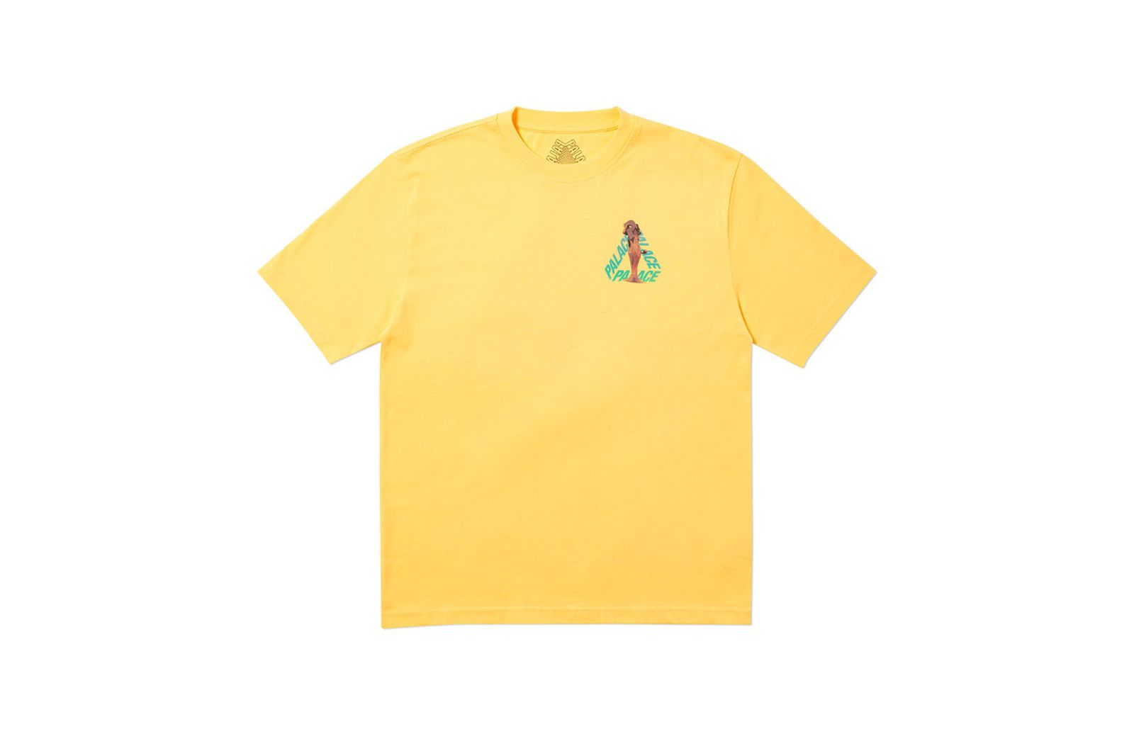 Palace 2019 Autumn T Shirt Rolls P3 yellow front