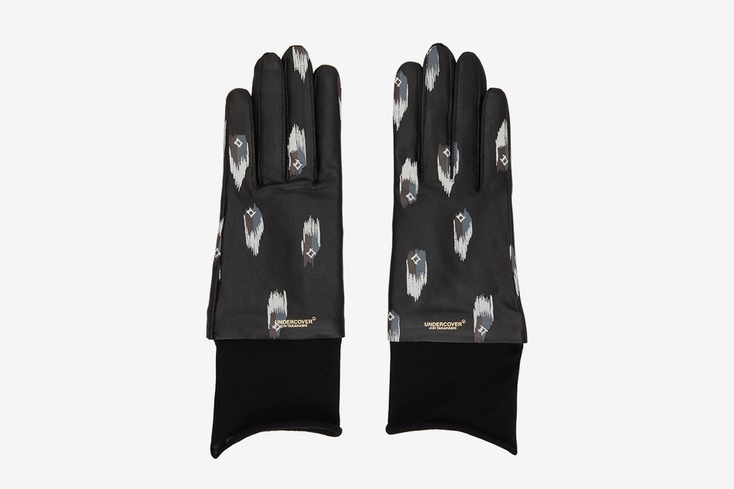 Leather Printed Gloves