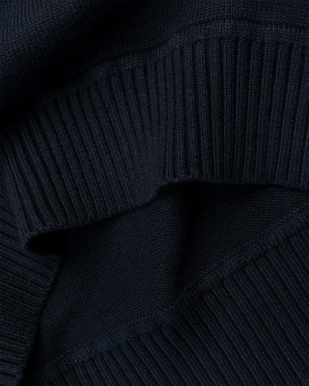 Stone Island – Knit Turtleneck Navy Blue - Image 5