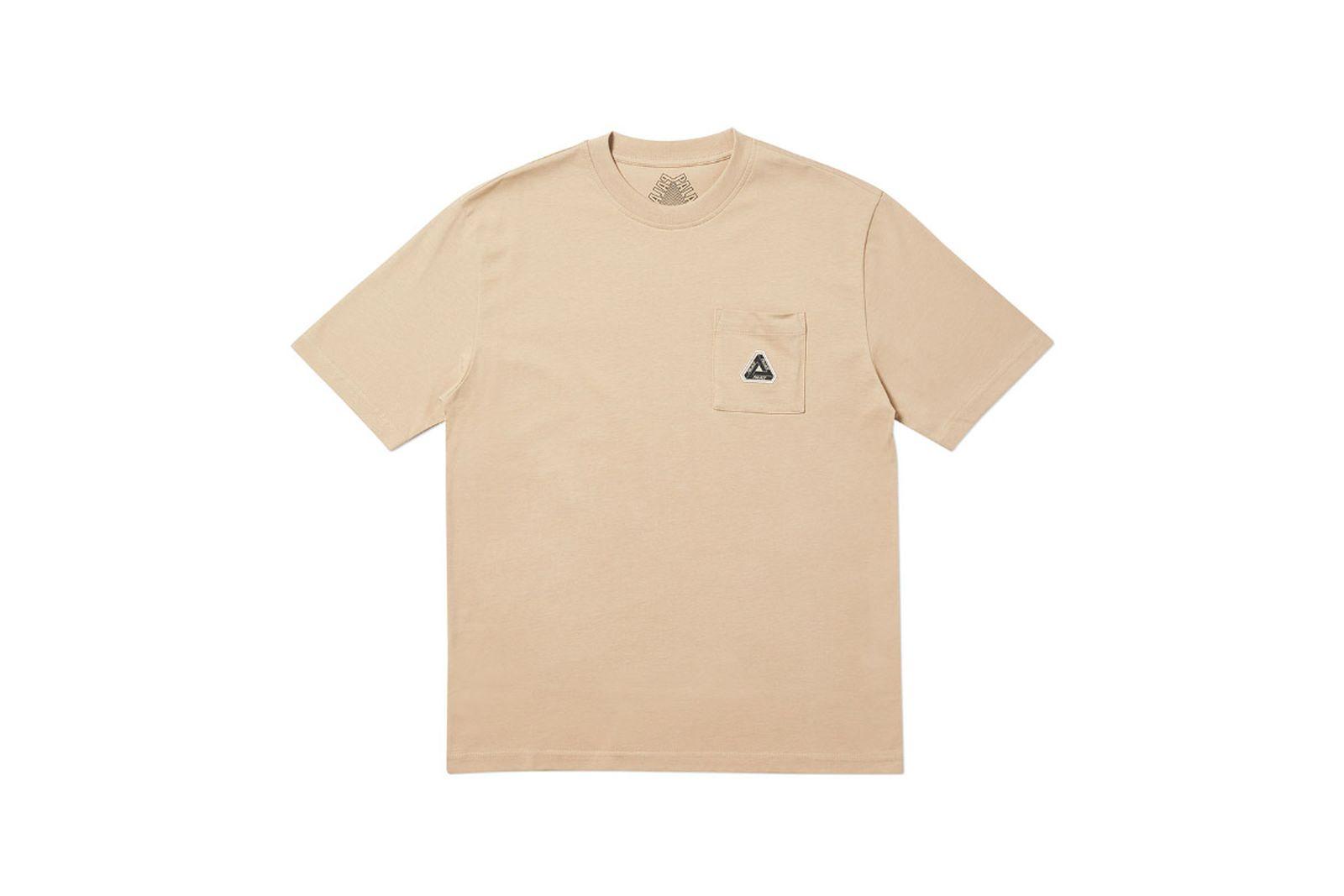 Palace 2019 Autumn T Shirt Pocket T sesame