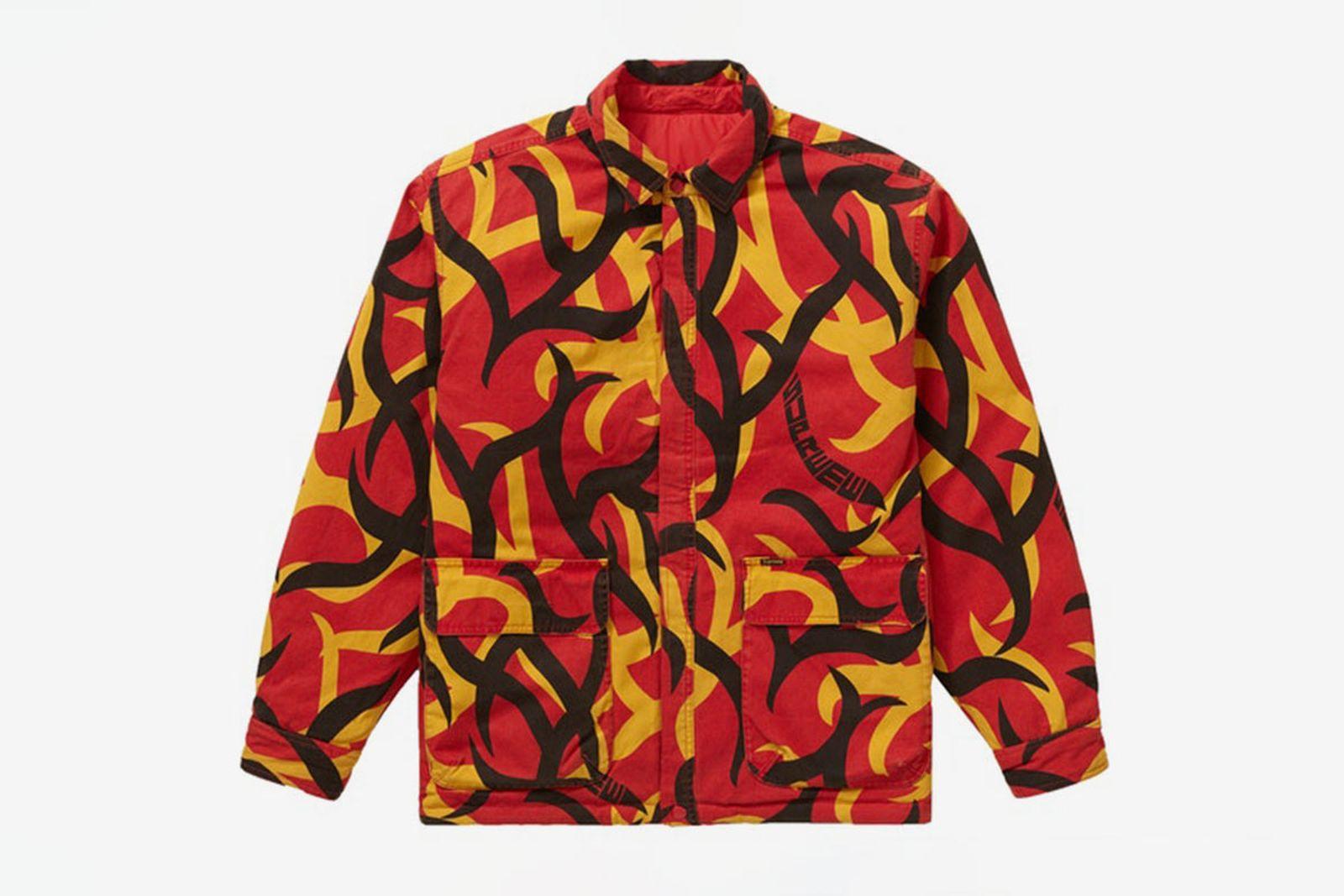 Supreme Red Tribal Camo reversible jacket