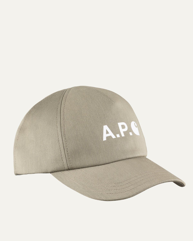 A.P.C. x Carhartt WIP - Cameron Baseball Cap Khaki - Image 1