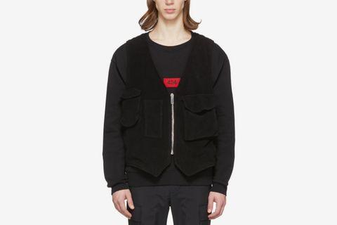 Black Fleece Vest