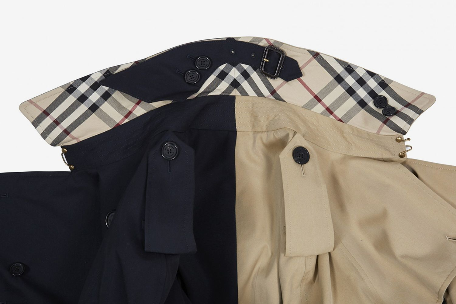 Two Tone Trench Coat